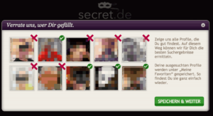 secret Profil nach Login